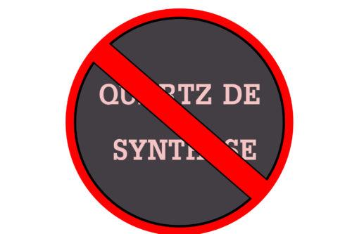 Quartz de synthèse dangereux