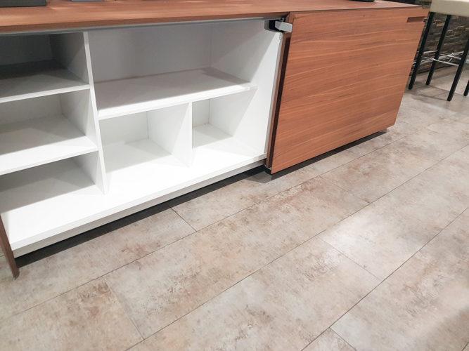 ouverture du meuble design italien modele Kico Grace