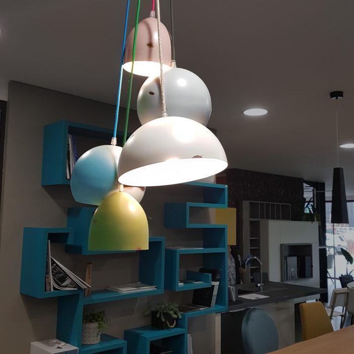 lampe acier vielli look industriel