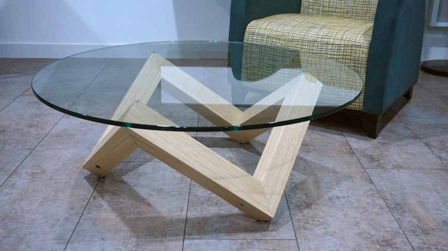 Table basse ronde verre design