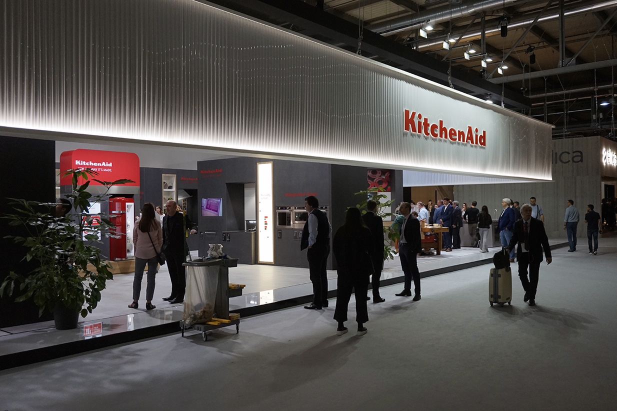 Stand Kitchenaid sur le salon Eurocucina