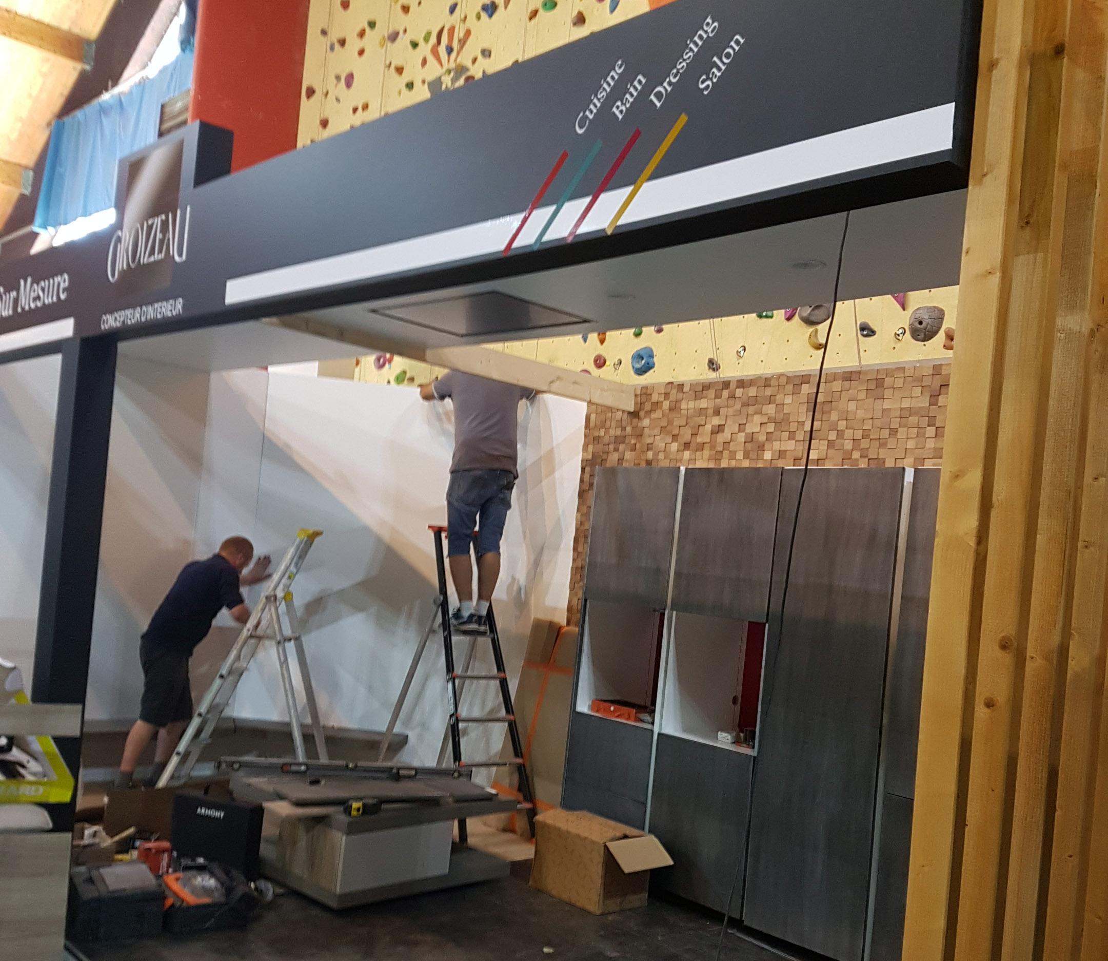 construction du stand