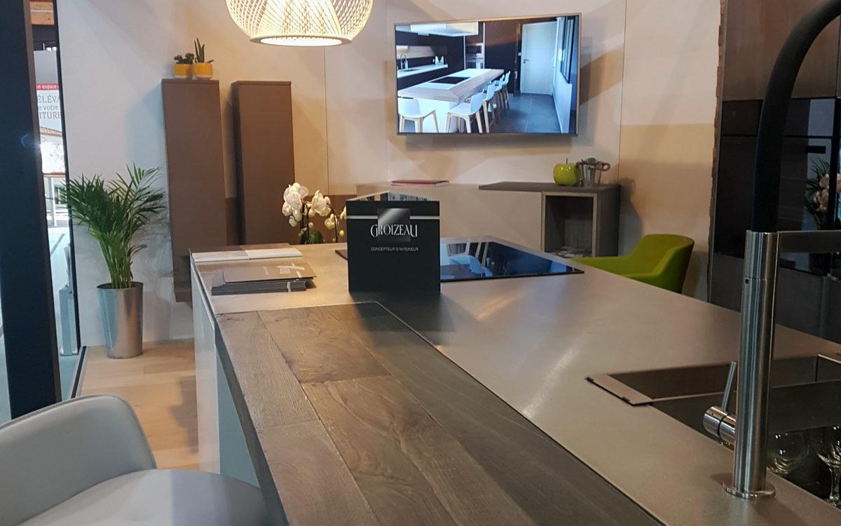 Ilot Central du stand concepteur d'interieur Ancenis 2018
