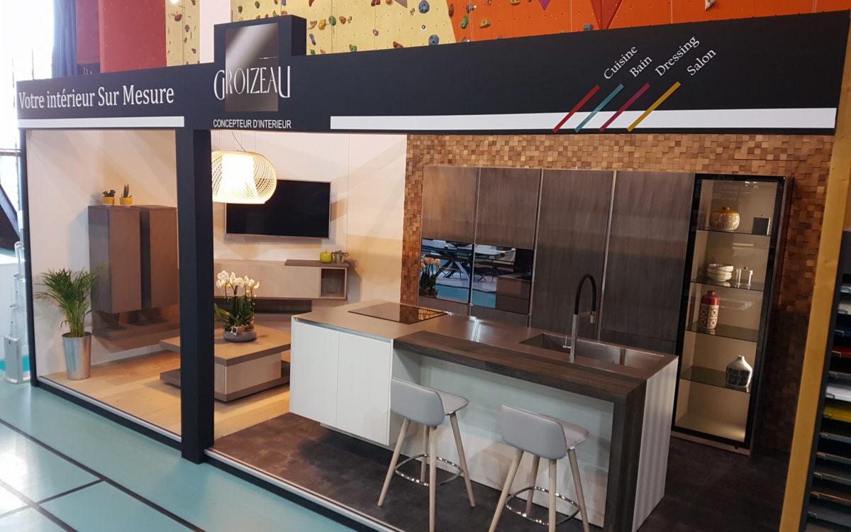 Photo du stand Groizeau concepteur d'interieur au salon de l'habitat d'Ancenis en 2018