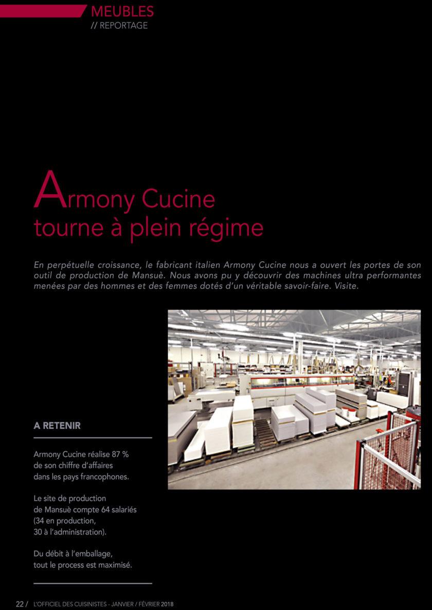 Page 22 de l'officiel du cuisiniste sur le fabricants de meuble Armony