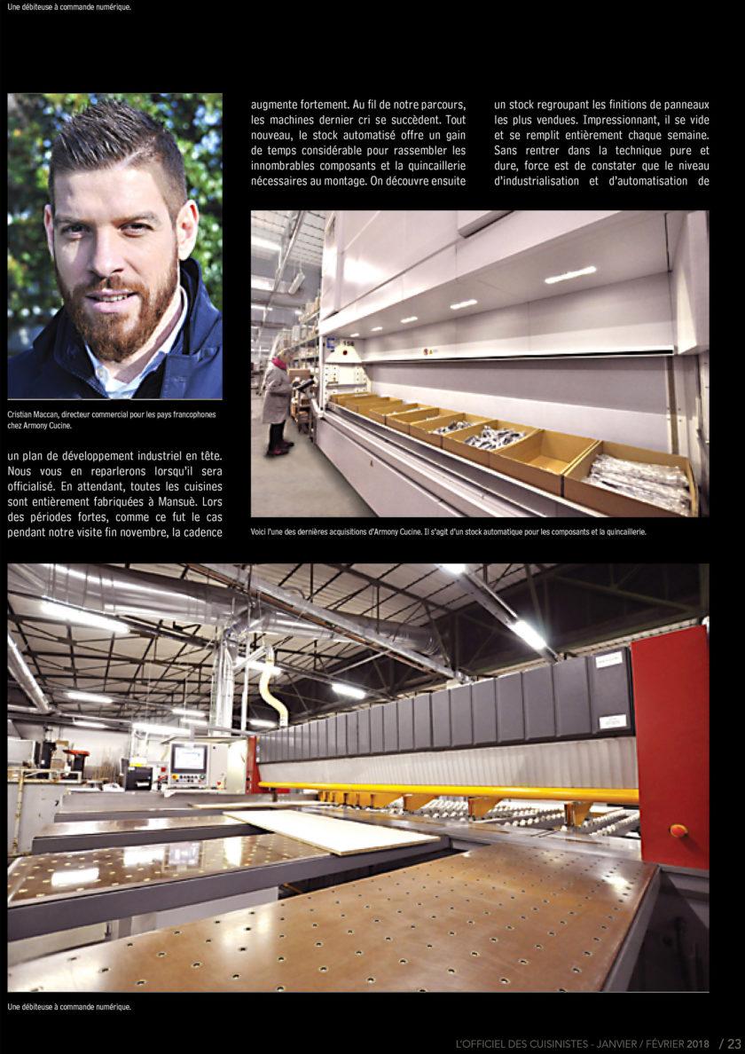 Page 23 de l'officiel du cuisiniste sur le fabricants de meuble Armony
