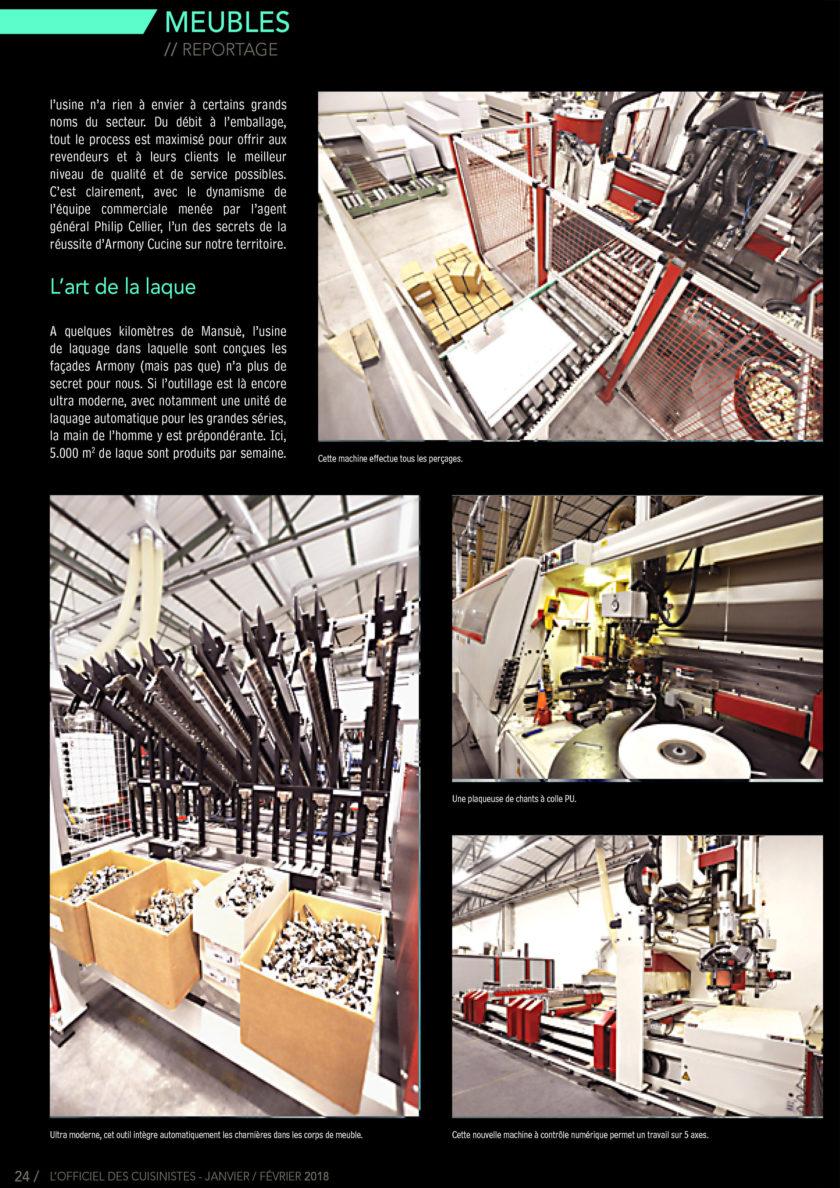 Page 24 de l'officiel du cuisiniste sur le fabricants de meuble Armony