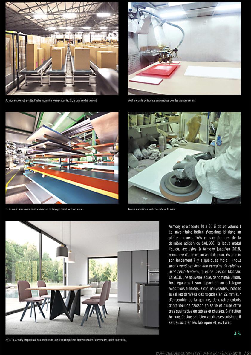 Page 25 de l'officiel du cuisiniste sur le fabricants de meuble Armony