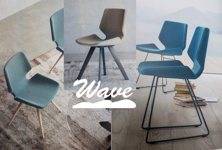 Chaise design wave pour la cuisine