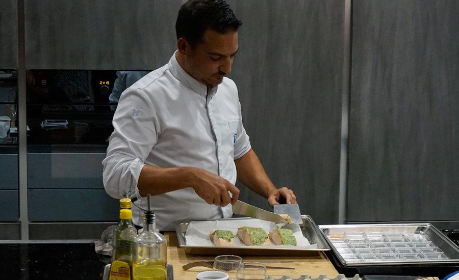 Demo culinaire au four combiné vapeur VZug