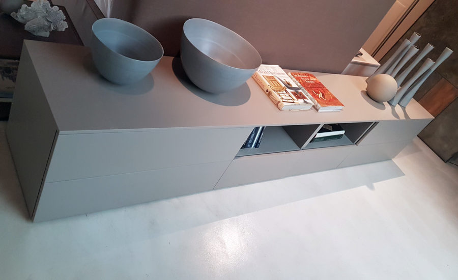 Meuble buffet gris perle