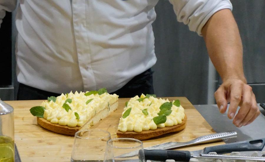 sablé facon tarte au citron yuzu réalisé au four Vzug