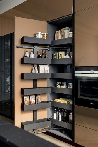 armoire à provision coulissante