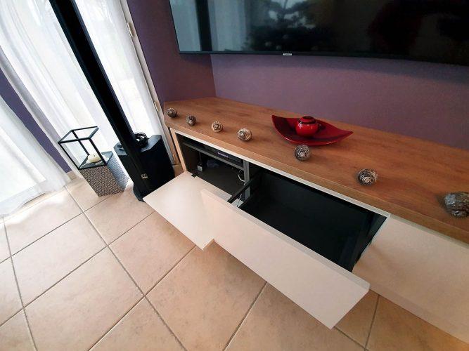 Rangement du meuble tv