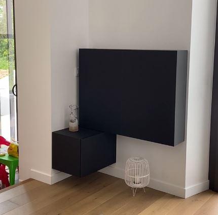 meuble pour cacher la television
